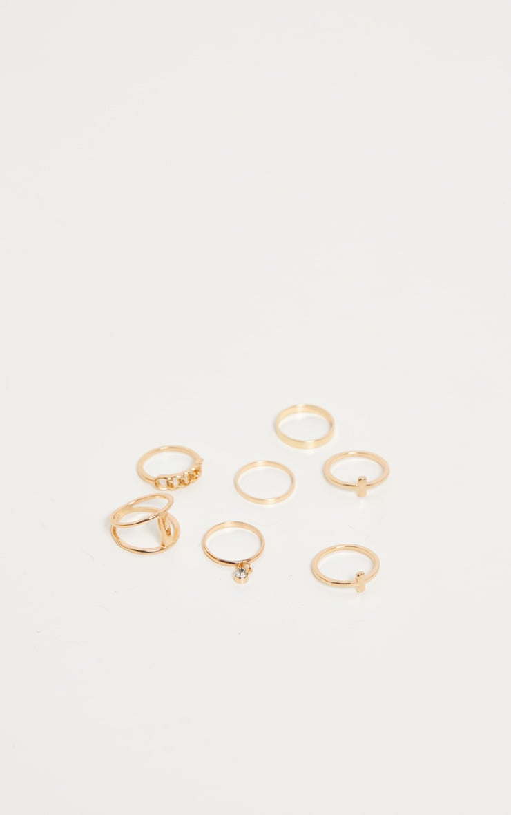 Gold Multi Pack Rings 3