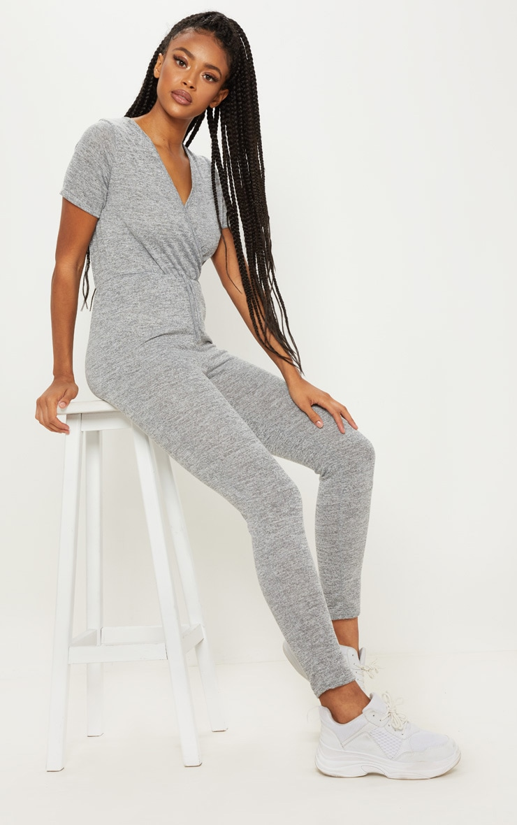 Grey Knitted Jumpsuit
