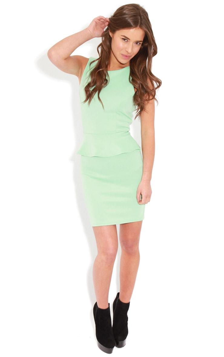Rylie Mint Peplum Dress  3