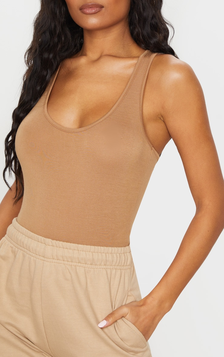 2 Pack Camel & Stone Basic Racer Back Bodysuit 4