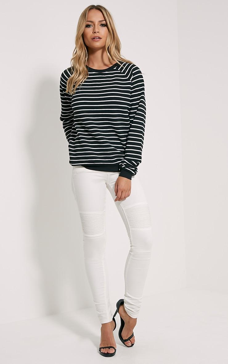 Louiza Black Stripe Jumper 3