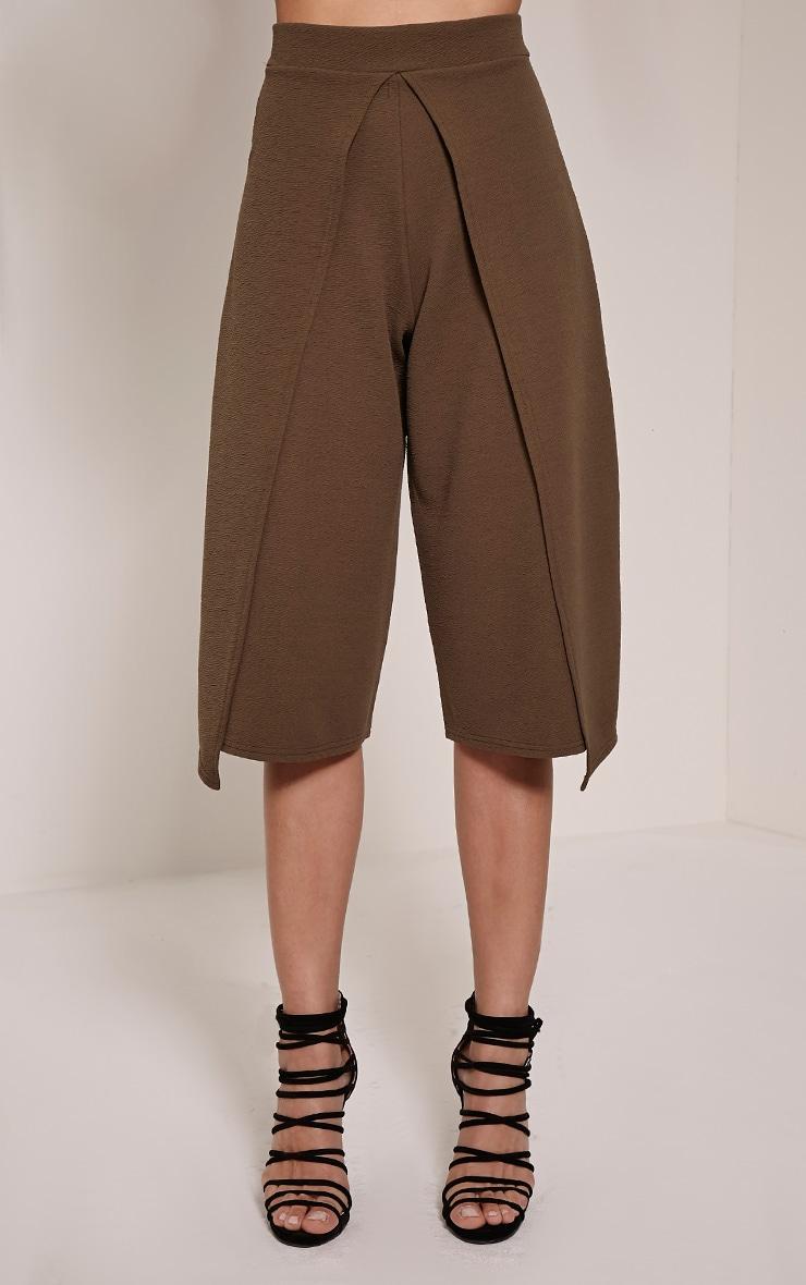 Esmay Khaki Layered Culottes 2