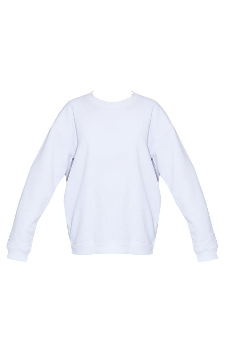 White Ultimate Oversized Sweatshirt 5