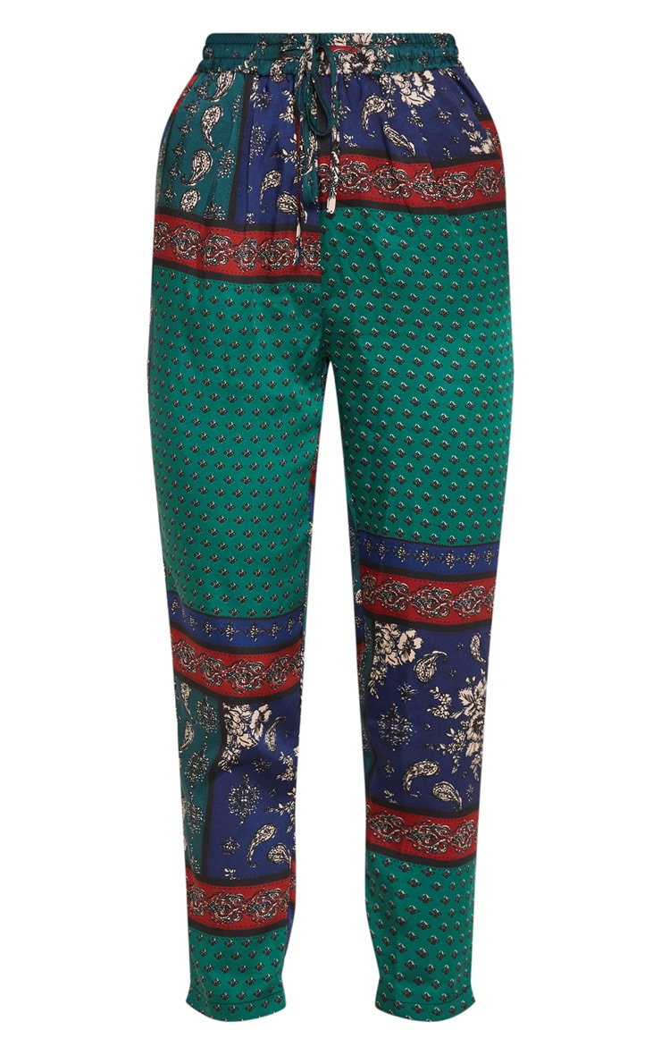 Multi Paisley Print Cigarette Pants 3