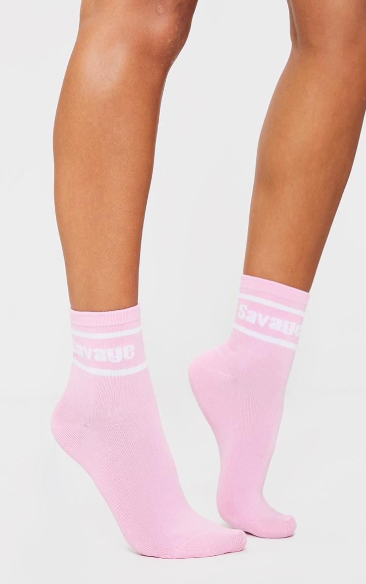Pink Savage Ankle Socks 2