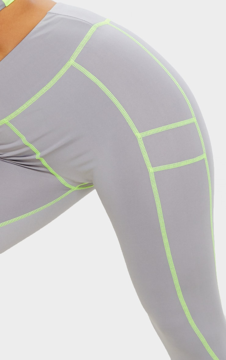 Grey Panelled Gym Legging 5