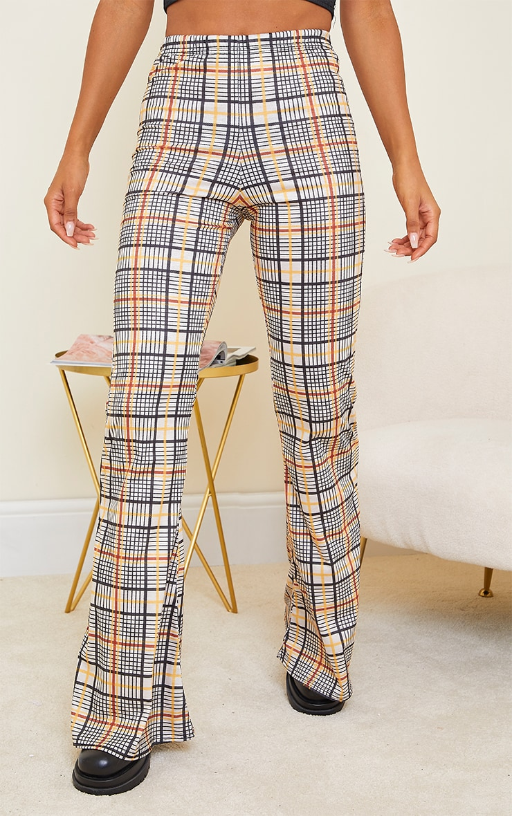 Stone Check Flared Pant 2