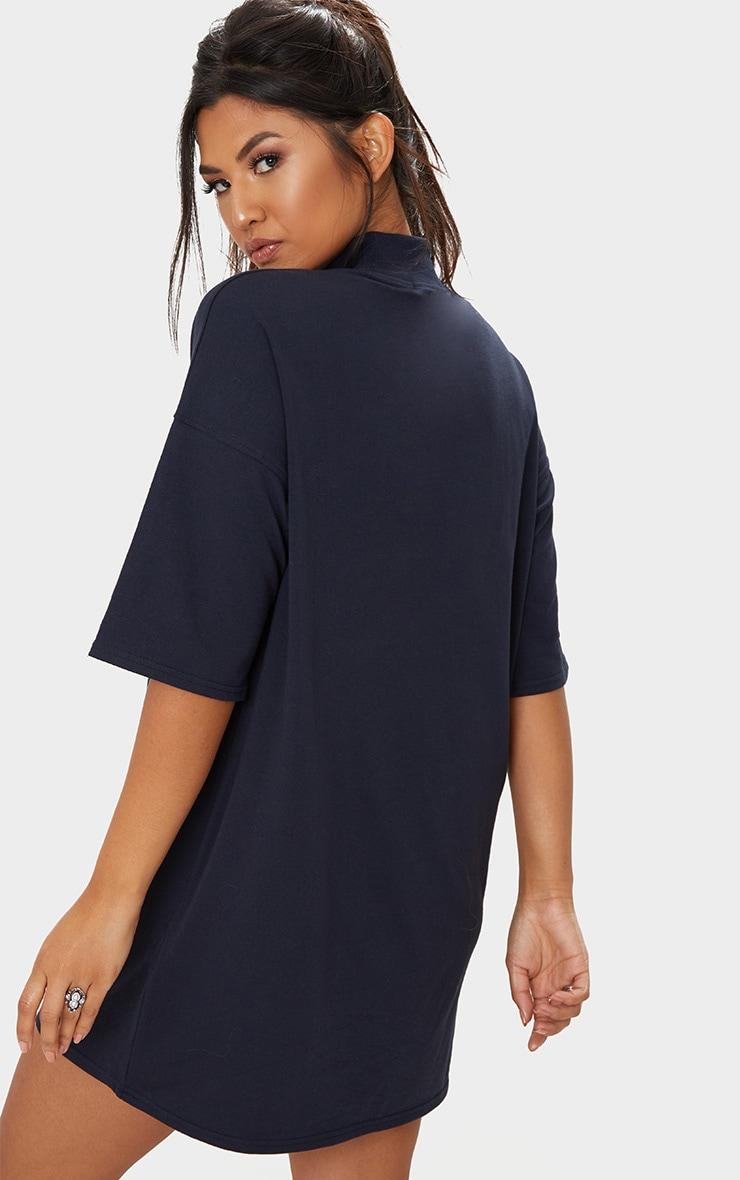 Navy Baby Girl T Shirt Dress 2