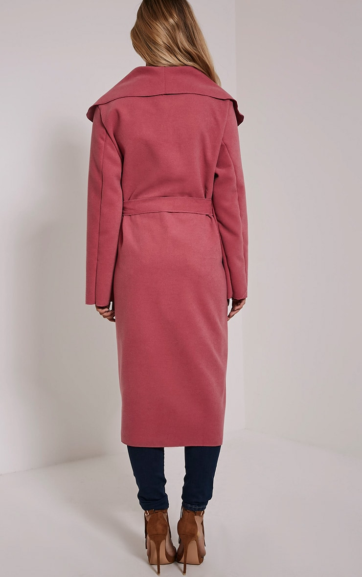 Veronica Pink Waterfall Coat 4