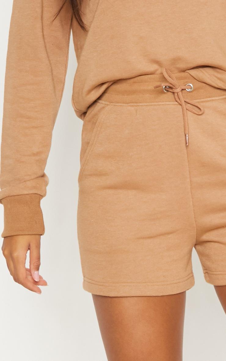 Taupe Sweat Shorts 6