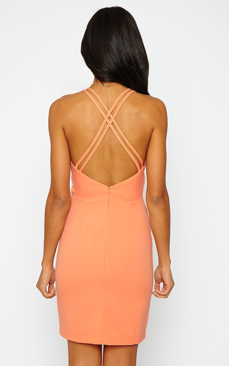 Ellis Peach Double Strap Dress 2
