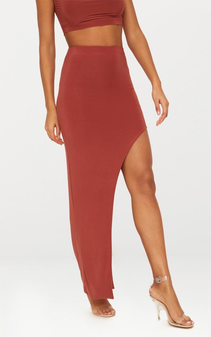 Spice Slinky Thigh High Split Midaxi Skirt  2