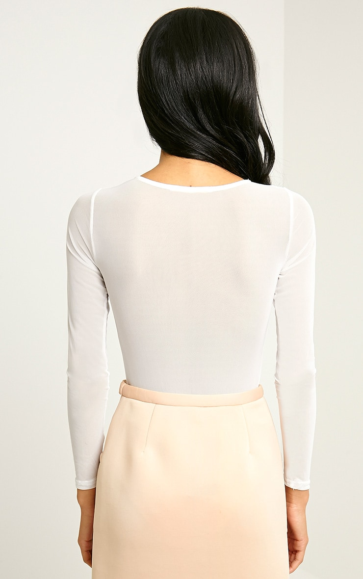 Dyna White Mesh Insert Bodysuit 2