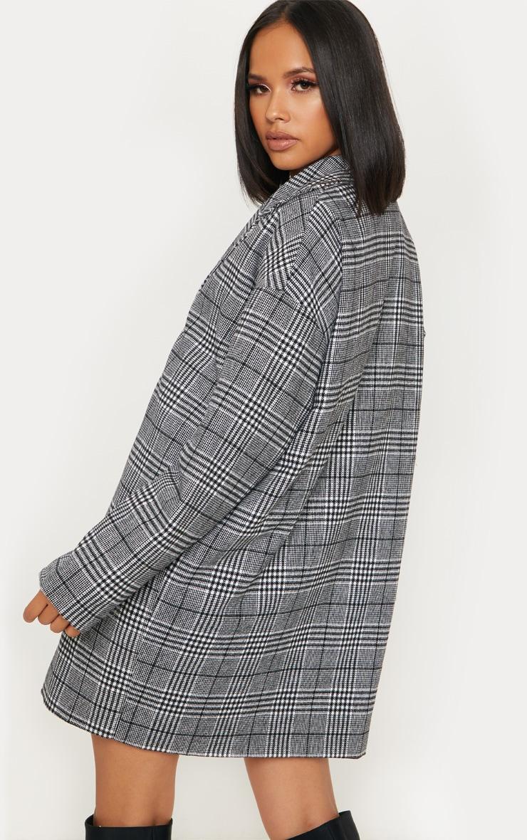 Veste en laine à carreaux noirs 2