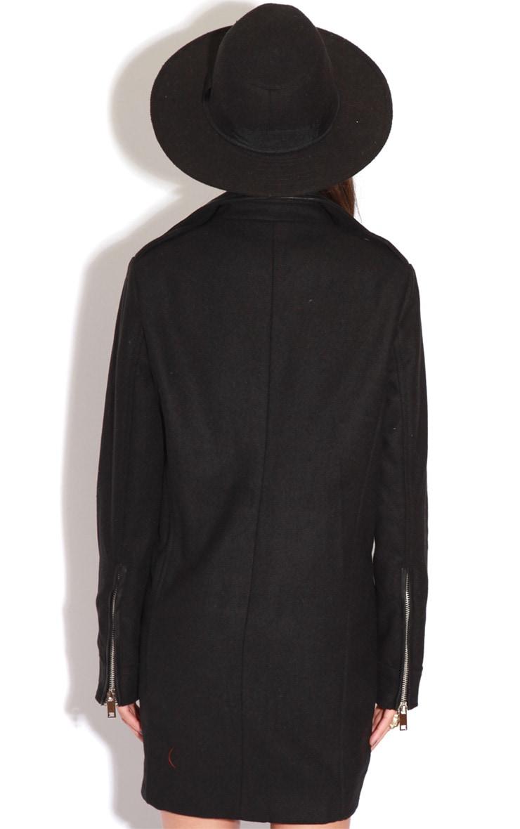 Matisse Black Biker Jacket Coat  2