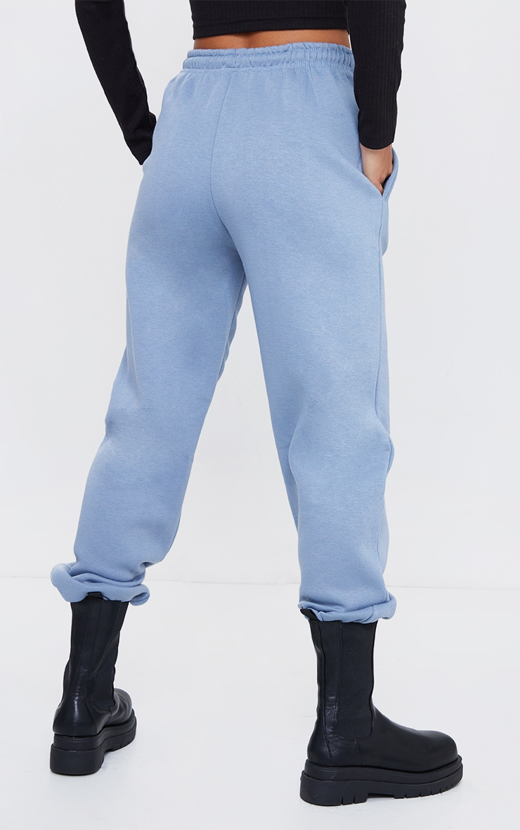 PRETTYLITTLETHING Steel Blue Barcode Joggers 3