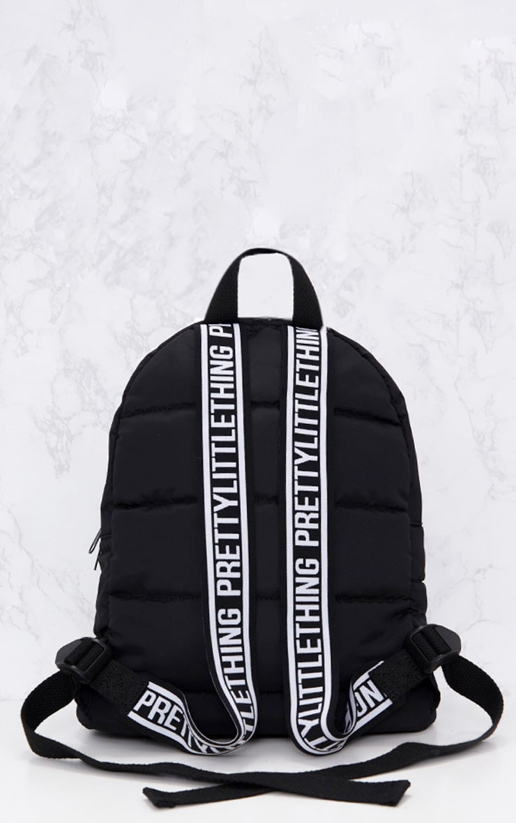 PRETTYLITTLETHING Black Backpack 3