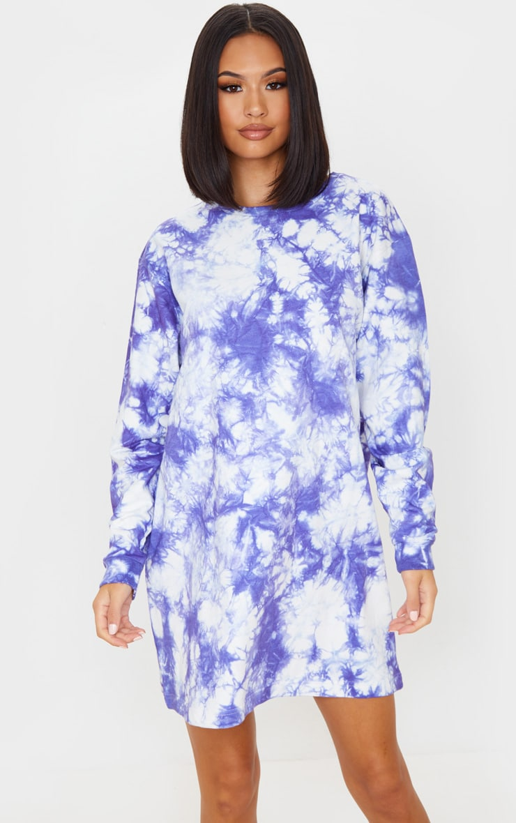 Lilac Youth Back Print Tie Dye Oversized Jumper Dress 2