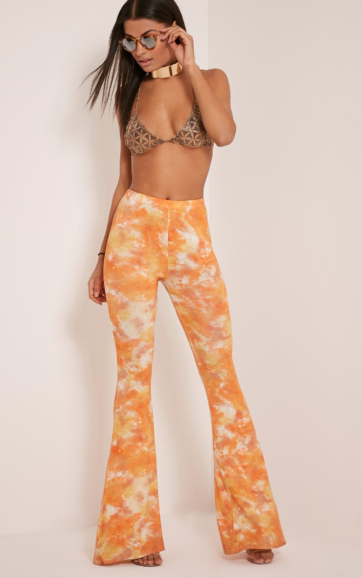 Jaida Orange Tie Dye Flares 7