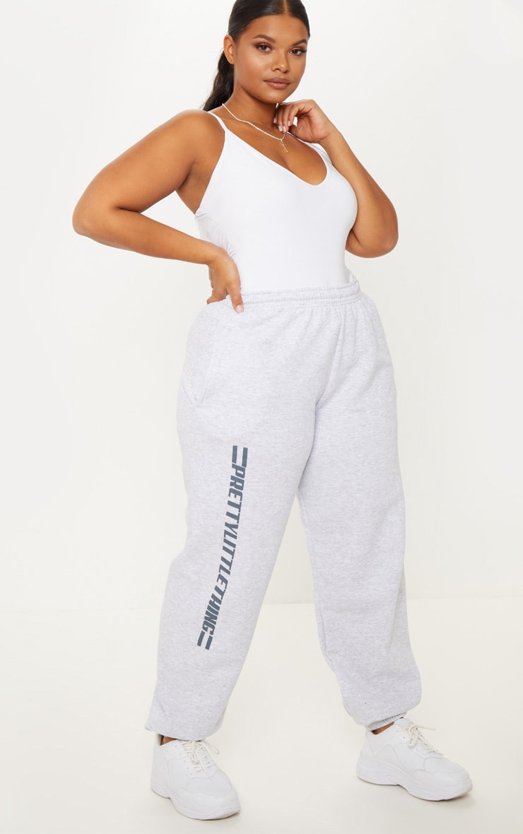 PRETTYLITTLETHING Plus Grey Casual joggers 1