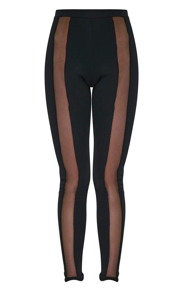Rach Black Mesh Front Leggings 3
