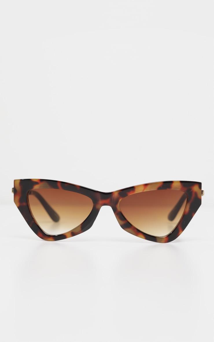 Brown Tortoiseshell Cat Eye Sunglasses 2