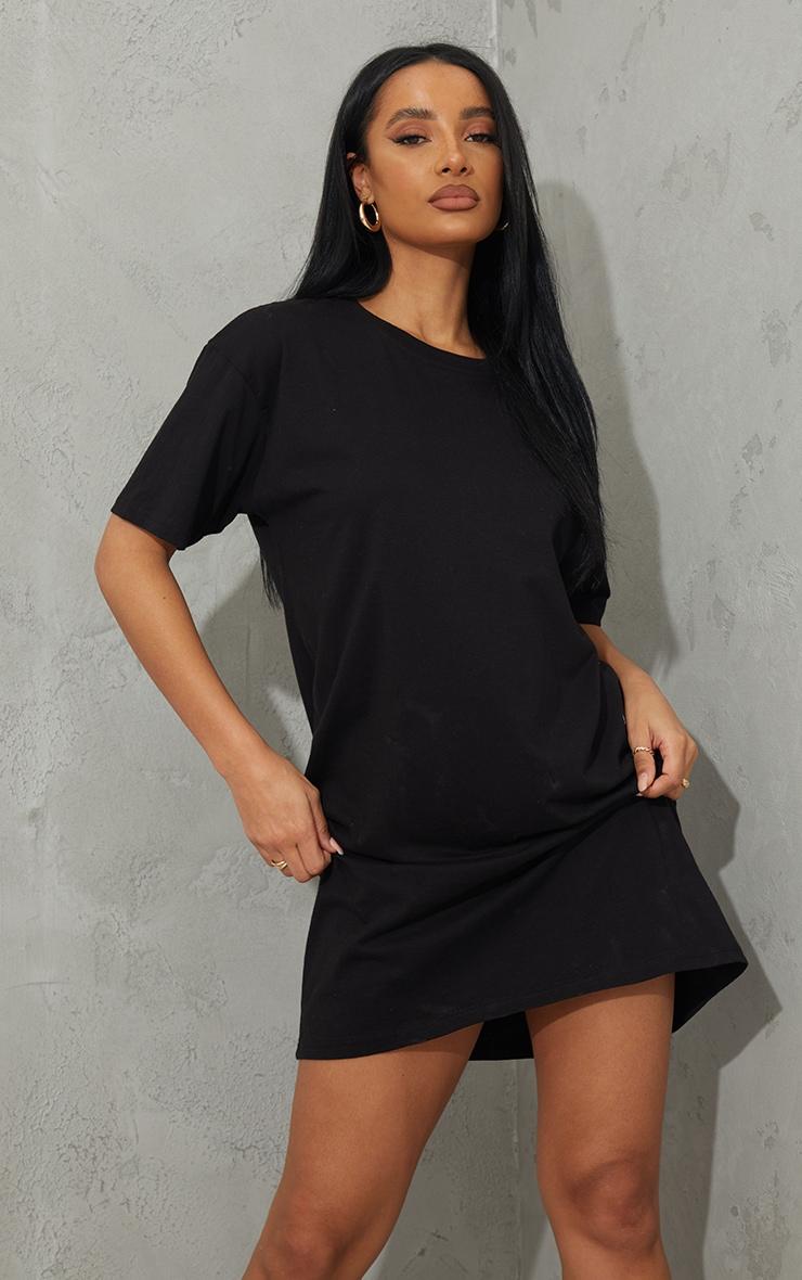 Black Good Times Are Coming Slogan T Shirt Dress 2