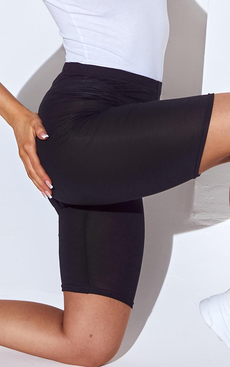 Basic Black Cotton Blend Cycle Shorts 5