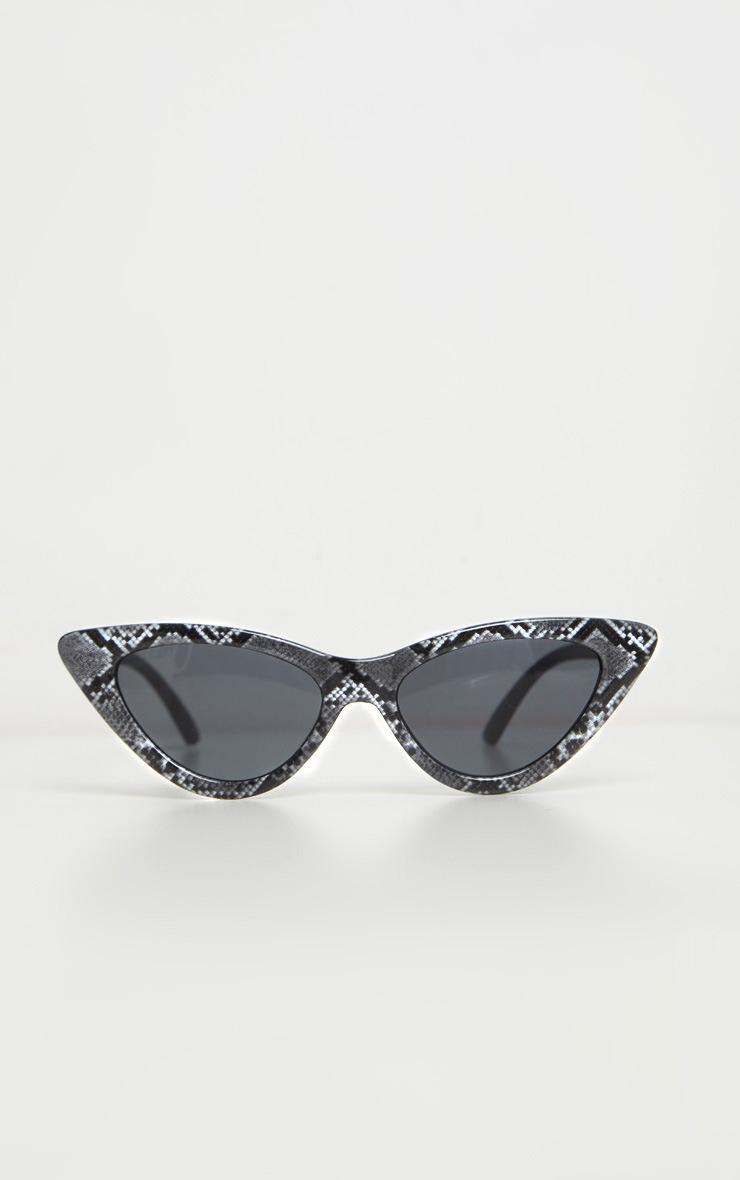 Grey Snake Cat Eye Sunglasses 3