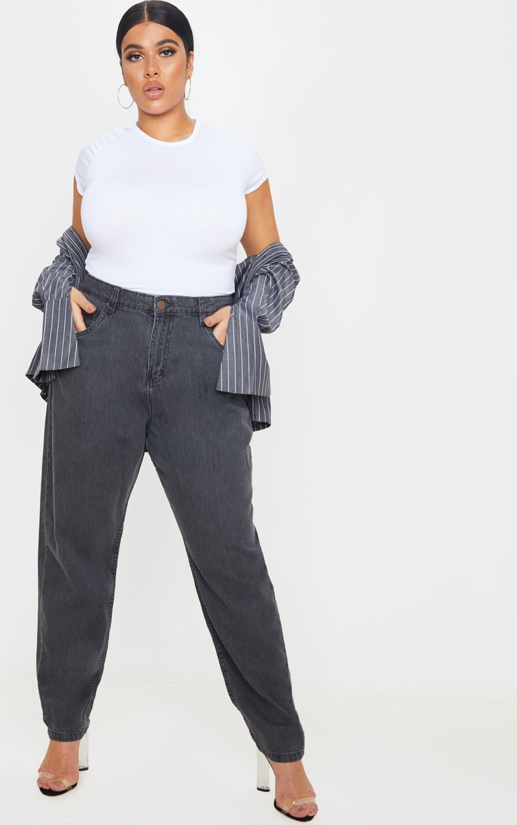 Plus Charcoal Straight Leg Jean 1