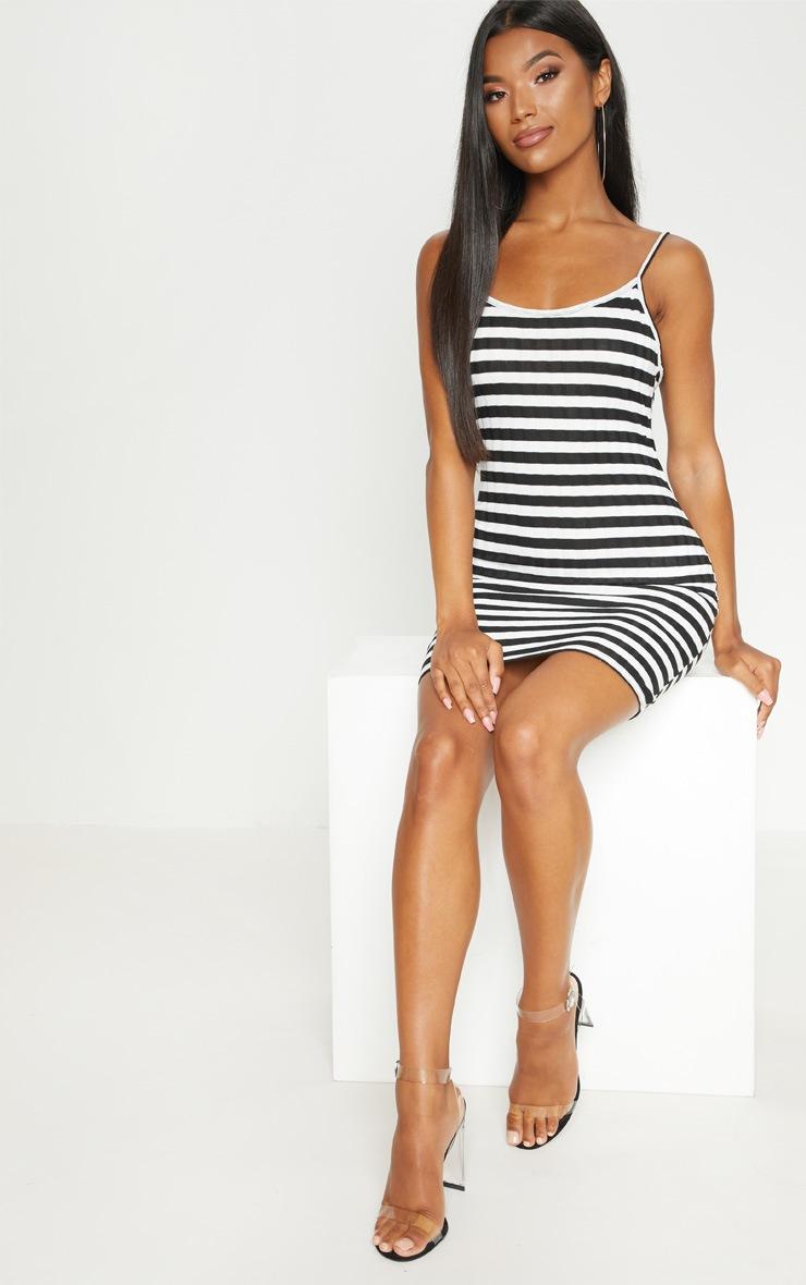 Monochrome Knitted striped Rib Dress 4