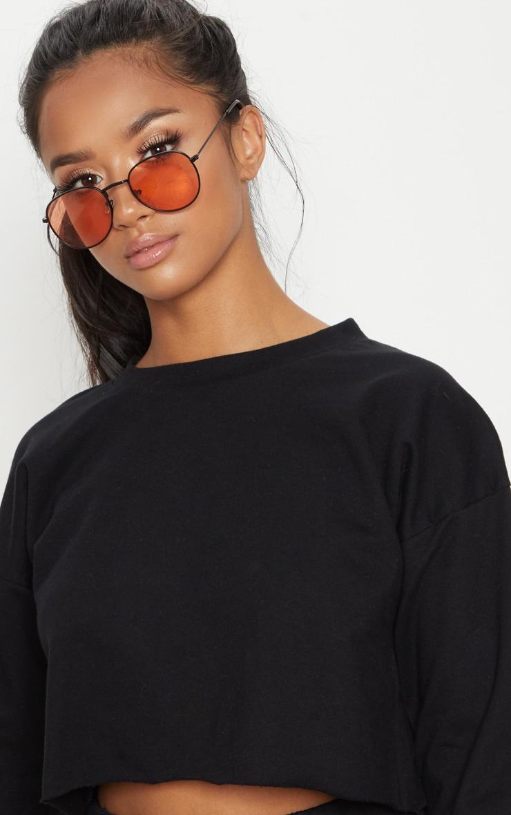 Petite Black Raw Edge Cropped Sweater 5