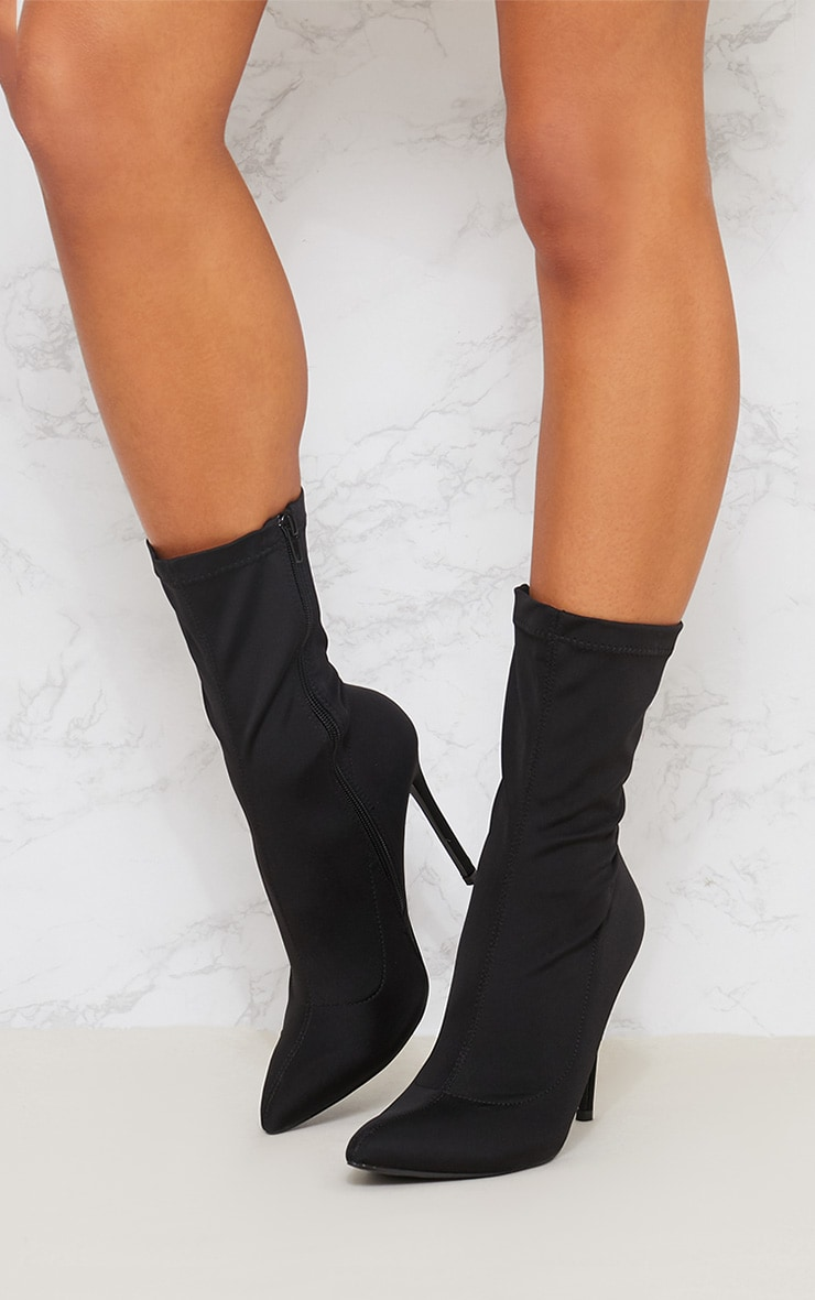 Black Lycra Sock Boot 2
