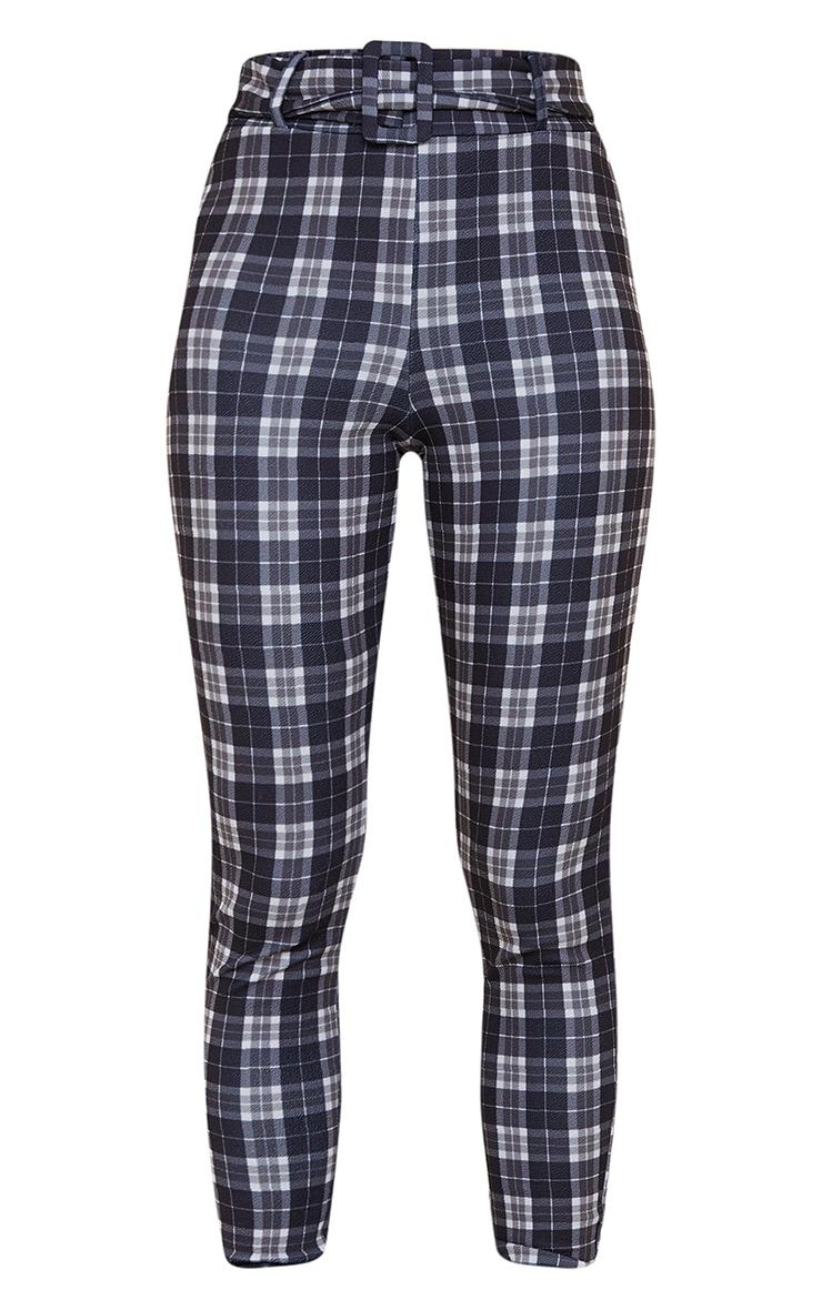 Black Check Belted Skinny Trouser 5