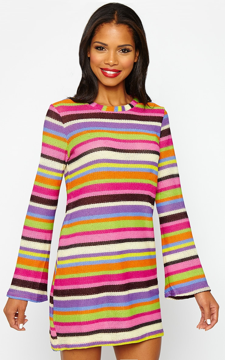 Misty Knitted Stripe Dress 1