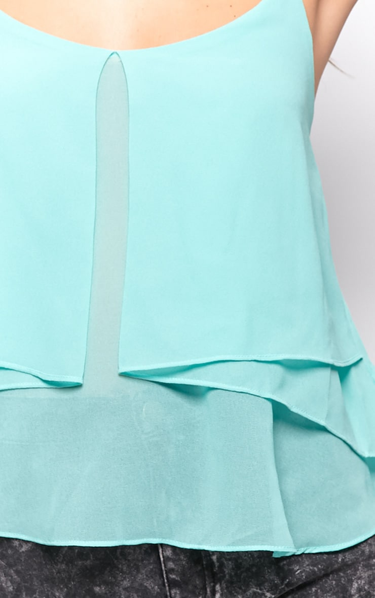 Lexie Mint Chiffon Swing Vest 4