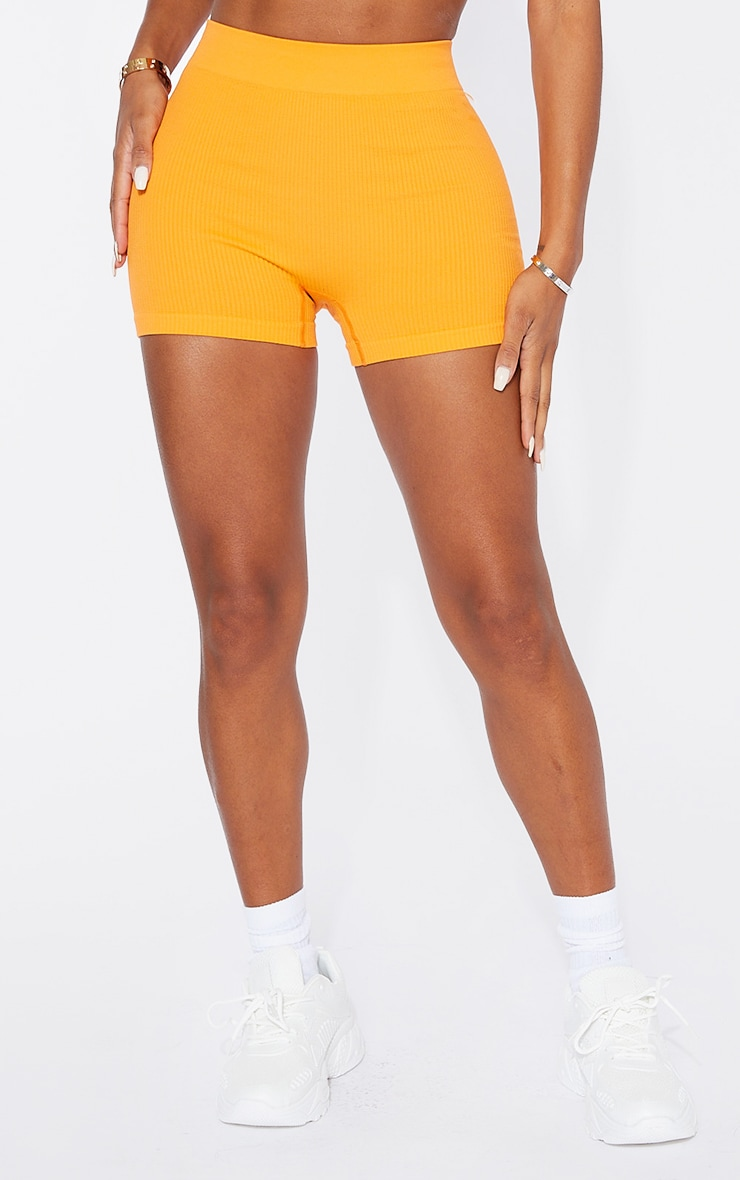 Shape Orange Contour Rib Shorts 2