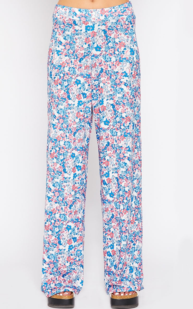 Flo Pink Floral Palazzo Pants 2