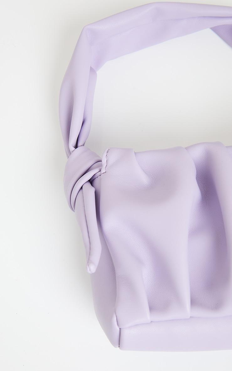 Lilac Pleated Front Shoulder Bag 4