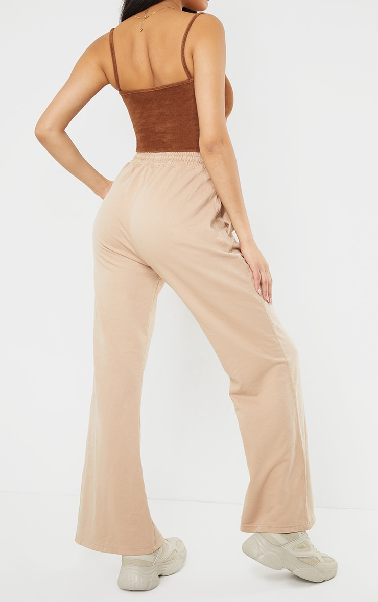 Stone Washed Wide Leg Joggers 3
