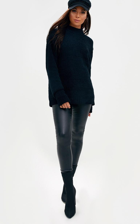 Black Chenille Oversized Jumper 3