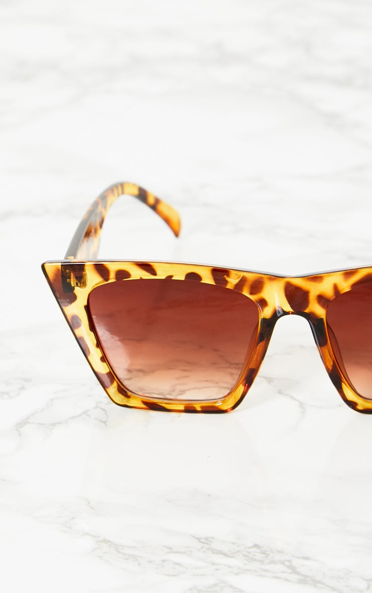 Leopard Angular Sunglasses 4