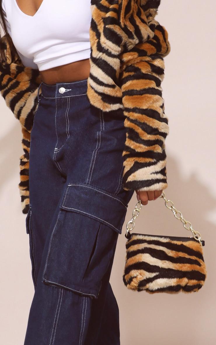 Tiger Faux Fur Handbag 1