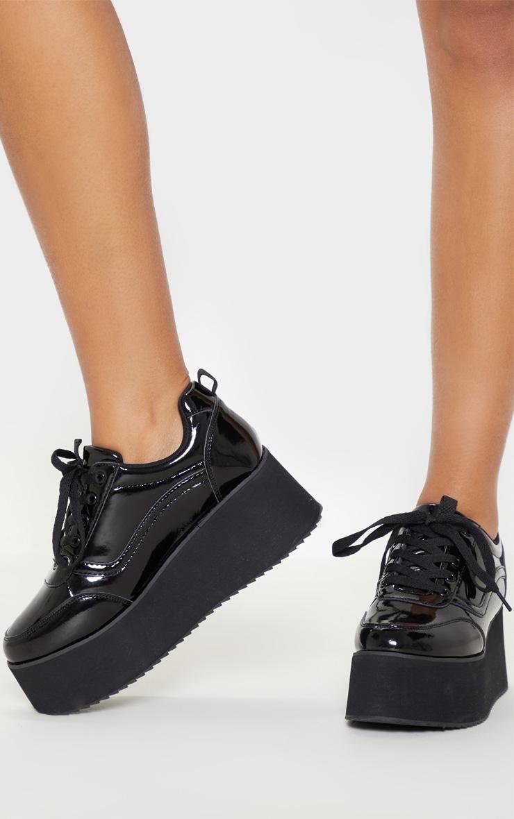 Black Triple Sole Flatform Sneakers 1