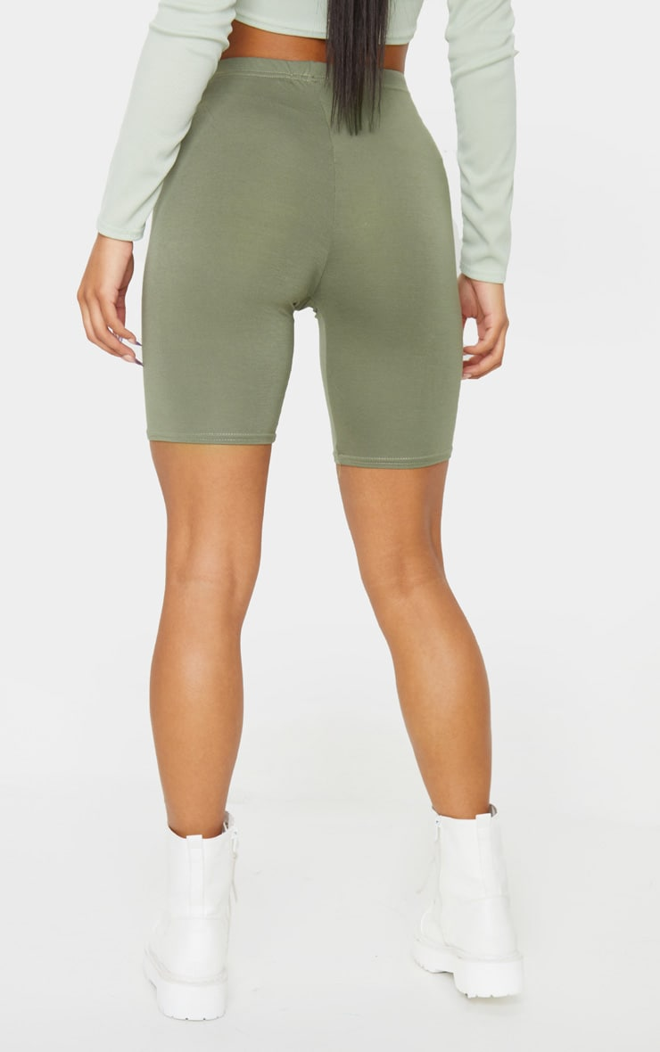 Pale Khaki Basic Bike Short 3