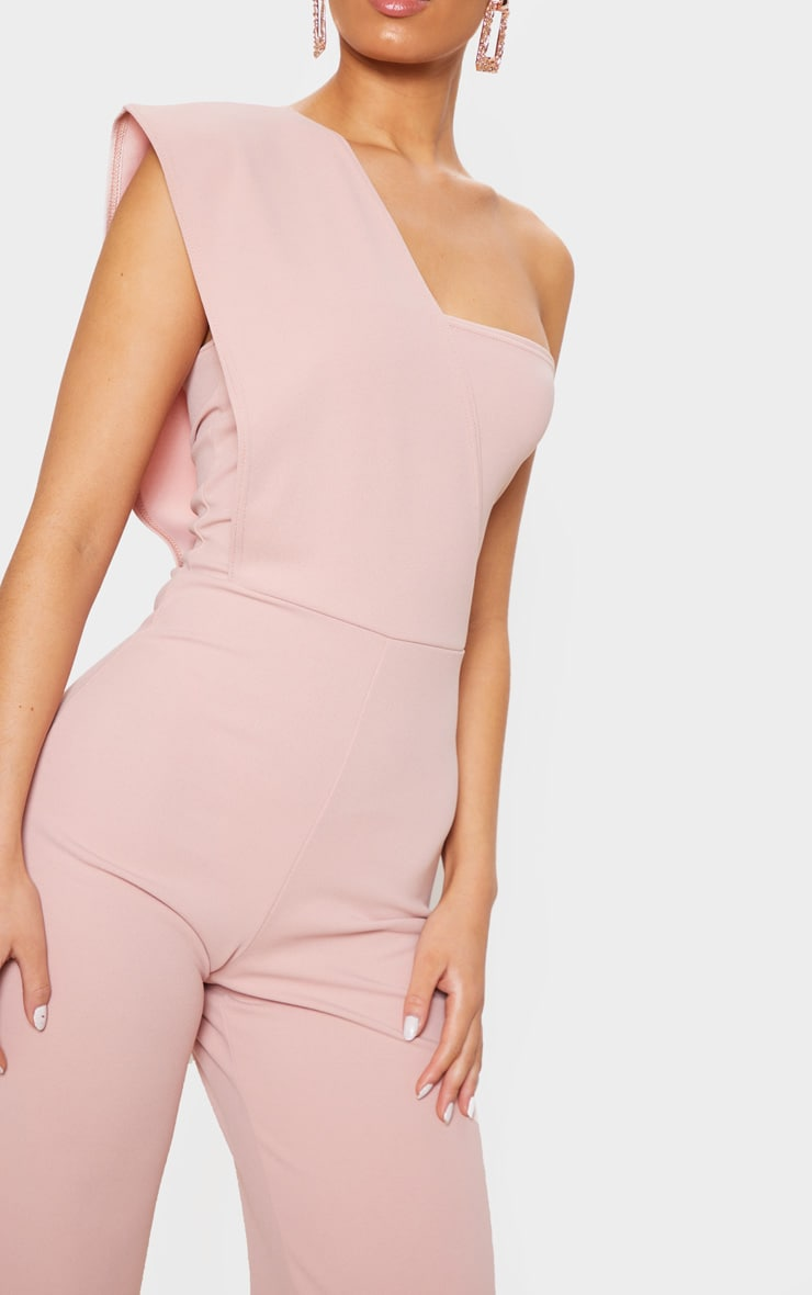 Rose Drape One Shoulder Jumpsuit 5