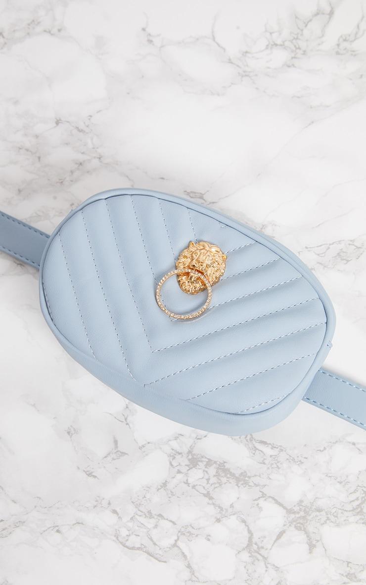Blue Lion Quilted Bum Bag 2