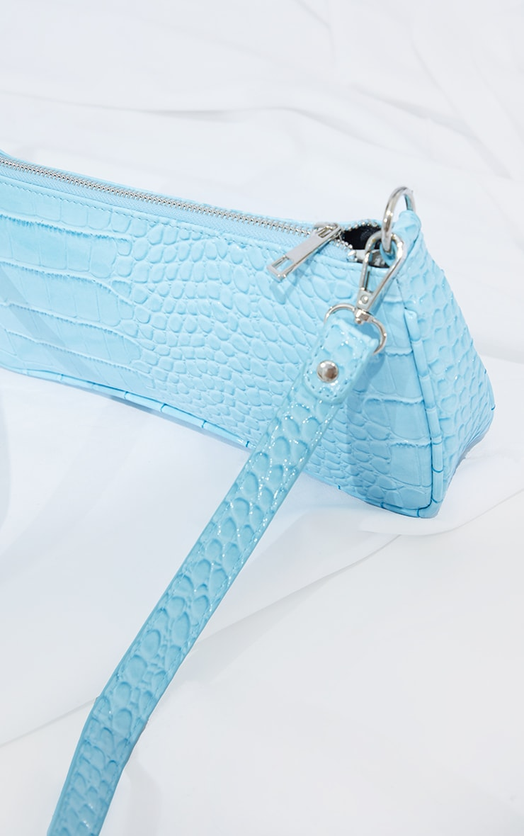 Blue Croc Shoulder Bag 3