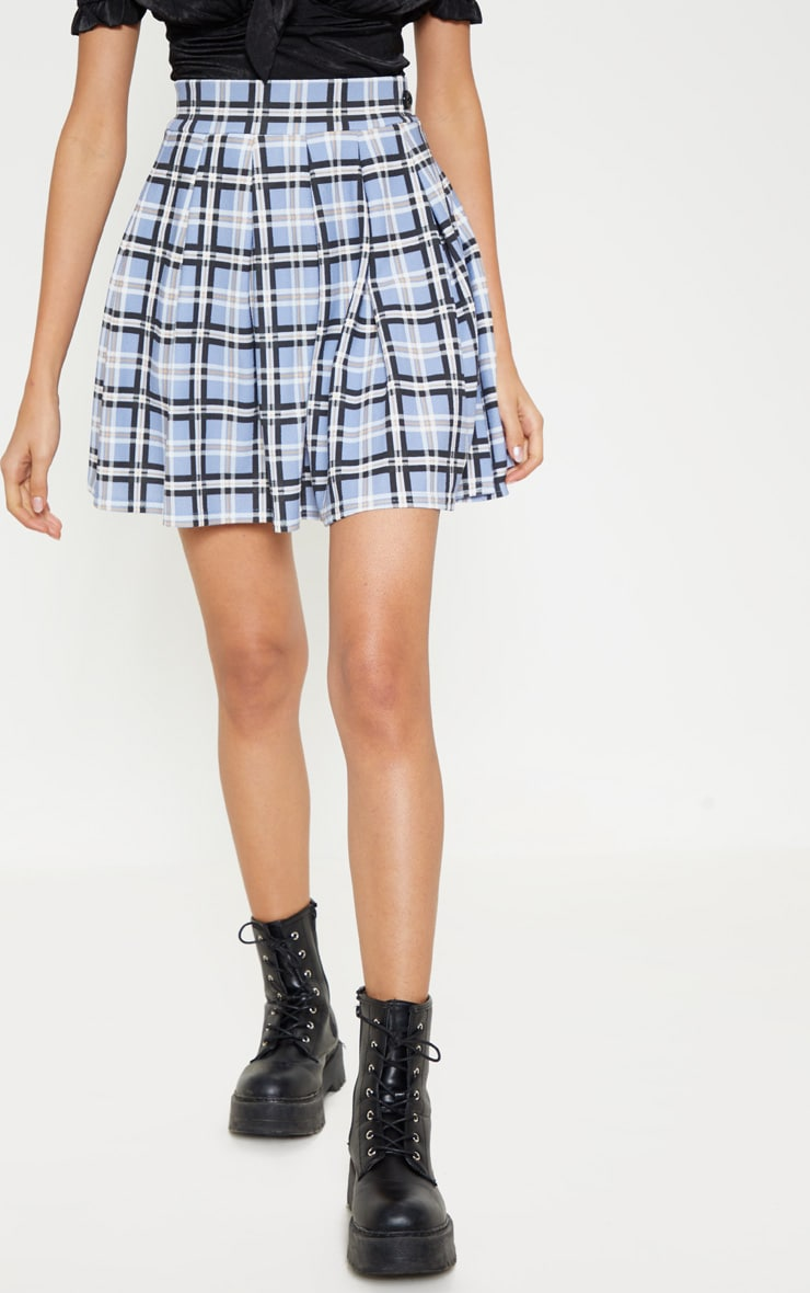 Pastel Check Pleated Tennis Skirt 2