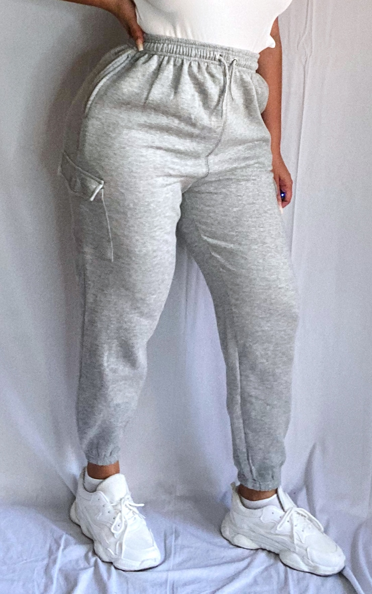 Plus Grey Pocket Detail Joggers 2